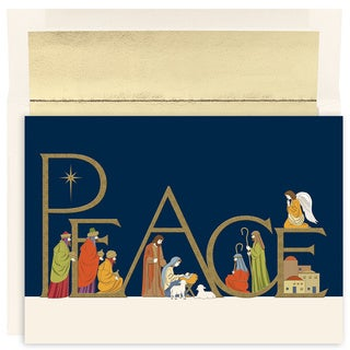 Peaceful Night Boxed Holiday Cards (Set of 16)