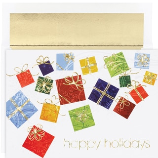 Colorful Gifts Boxed Holiday Cards