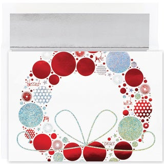 Contemporary Wreath Boxed Holiday Cards (Set of 16)