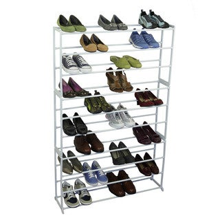 Richards Homewares White 50-pair Shoe Storage Rack