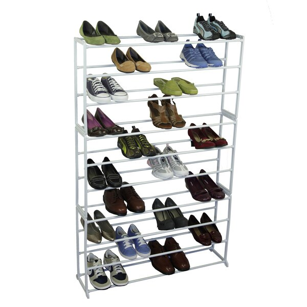 Richards Homewares White 50-pair Shoe Storage Rack