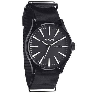 Nixon Men's 'The Sentry' Black Nylon Strap Watch