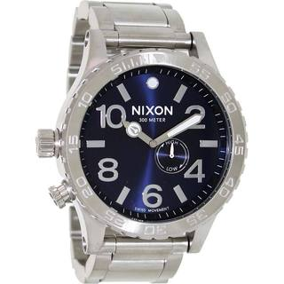 Nixon Men's Stainless Steel Blue Dial Swiss Quartz Watch