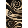Sculpture Abstract Swirl Design Area Rug (5'x7)