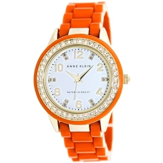 Anne Klein Women's Orange Crystal-accented Watch