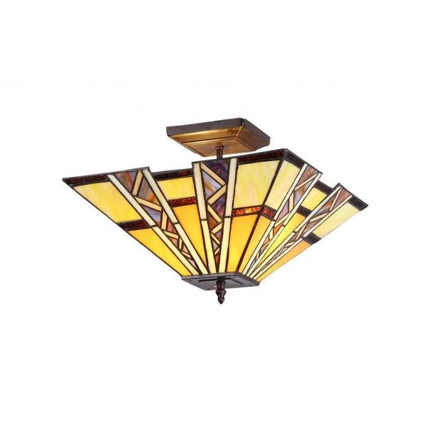 Chloe Tiffany Style Mission Design 2-light Flush Mount