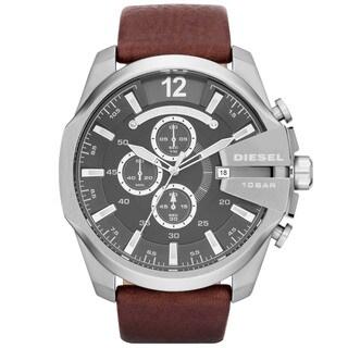 Diesel Men's DZ4290 Brown Leather Strap Watch