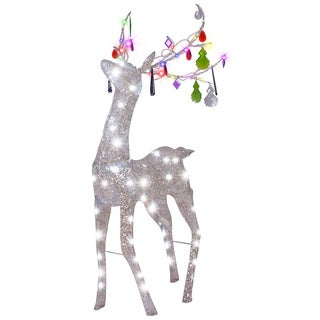 Pre-Lit Jeweled Crystal Chandle-Deer