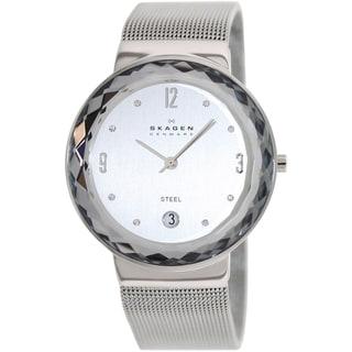 Skagen Women's Classic Silver Steel and Silver Dial Quartz Watch