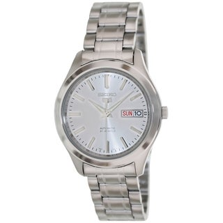 Seiko Men's 5 Automatic Silver Stainless Steel and Silver Dial Watch