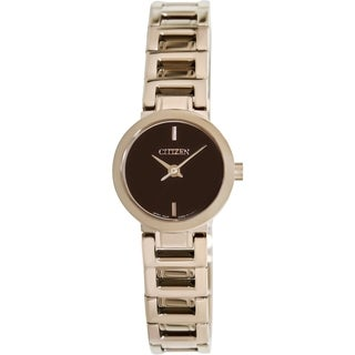 Citizen Women's Classic Gold Stainless Steel and Brown Dial Quartz Watch