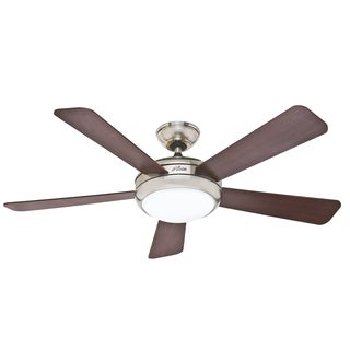 Hunter Fan 52-inch Palermo Brushed Nickel with Five Cherry/ Maple Blades