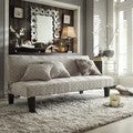 Bento Grey Bracket Chain Modern Mini Futon Sofa Bed