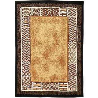 African Adventure/Skin Area Rug (5'x7')