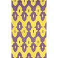 nuLoom Hand-hooked Purple/ Gold Wool-blend Rug (8'3 x 11')
