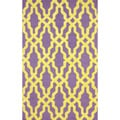 nuLoom Hand-hooked Purple/ Gold Wool-blend Rug (7'6 x 9'6)