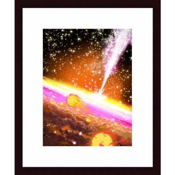 'A giant black hole at the center of a galaxy' Framed Print