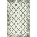 nuLoom Hand-hooked White/ Grey Wool-blend Rug (7'6 x 9'6)