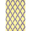 nuLoom Hand-hooked Purple/ Yellow Wool-blend Rug (7'6 x 9'6)