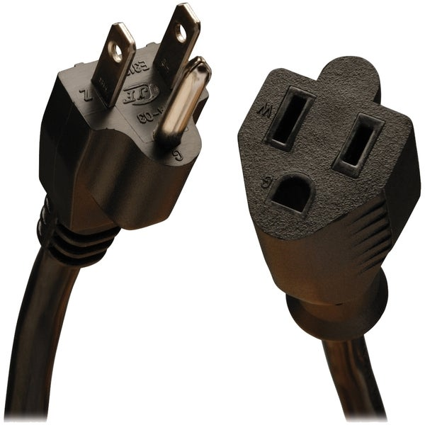 Tripp Lite 1ft Power Cord Extension Cable 5-15P to 5-15R 13A 16AWG 1'