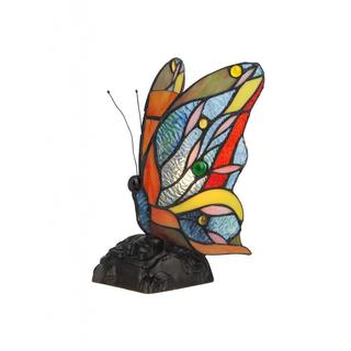 Tiffany Style Butterfly Design Nightlight / Accent Lamp