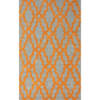 nuLoom Hand-Hooked Orange Wool Rug (5' x 8')