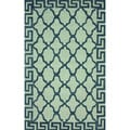 nuLOOM Hand-hooked Grey/ Blue Wool-blend Rug (5' x 8')