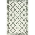 nuLOOM Hand-hooked White Wool Area Rug (5' x 8')