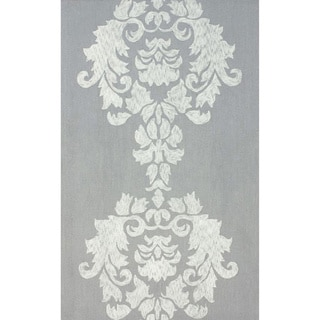 nuLOOM Hand-hooked Grey/ Light Grey Wool-blend Rug (5' x 8')