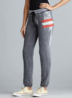 Signorelli Stripe Detail Burnout Drawstring Pants