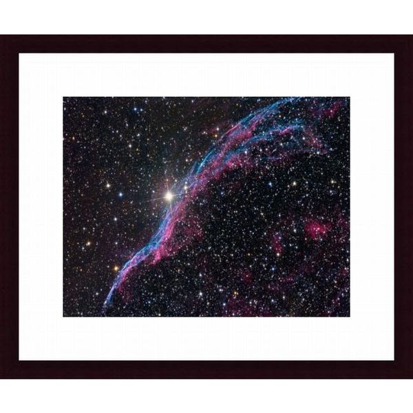 'The Veil Nebula' Framed Print