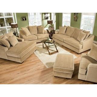 Brighton Taupe 3-piece Chaise and Sofa Set