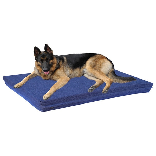 Go Pet Club Denim Blue Memory Foam Pet Bed