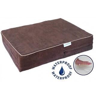 Go Pet Club Chocolate Brown Memory Foam Pet Bed
