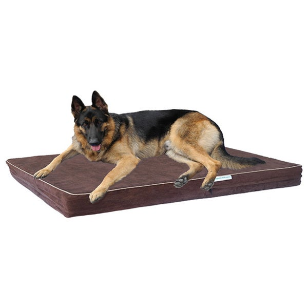 Go Pet Club Chocolate Brown Memory Foam Pet Bed
