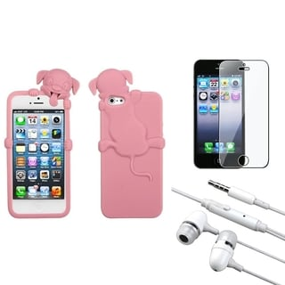 INSTEN Clear Screen Protector/ Headset/ Skin Phone Case Cover for Apple iPhone 5