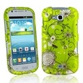BasAcc Green Flowers Rubber Coated Case for Samsung� Galaxy Axiom R830