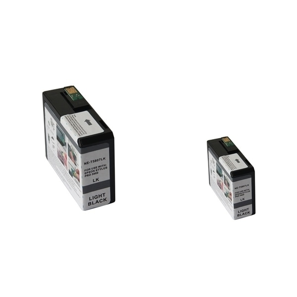 INSTEN 2-ink Light Black Cartridge Set for Epson T5807LBk