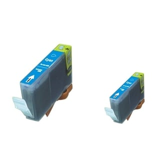 BasAcc 2-ink Cyan Cartridge Set Compatible with Canon BCI-5/6C/ BCI-3eC