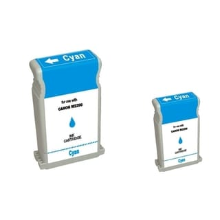 BasAcc 2-ink Cyan Cartridge Set Compatible with Canon BCI-1302C