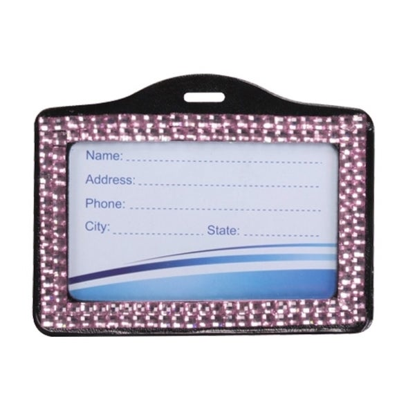 INSTEN Pink Horizontal Business Card Holder 013