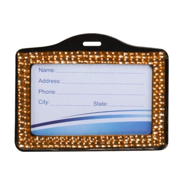 INSTEN Orange Horizontal Business Card Holder 014