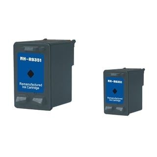BasAcc Black Ink Cartridge for HP 21 (Remanufactured) (Pack of 2)