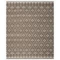 Safavieh Hand-woven Natural Kilim Brown/ Ivory Wool Rug (6' x 9')