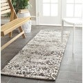 Safavieh Retro Black/ Light Grey Rug (2'3 x 11')