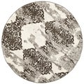 Safavieh Retro Beige/ Light Grey Rug (8' Round)