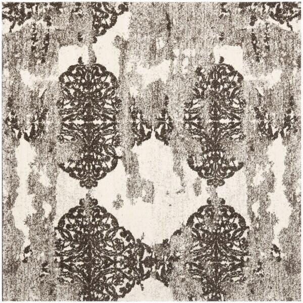 Safavieh Retro Beige/ Light Grey Rug (8' Square)