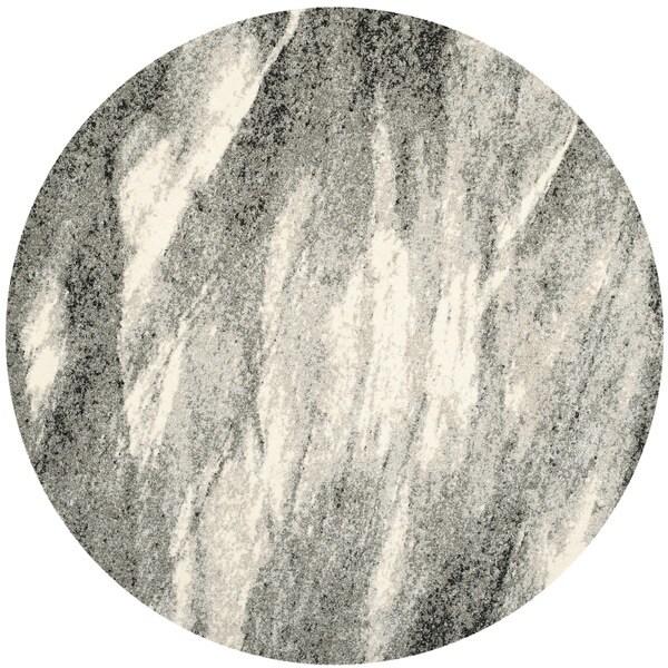Safavieh Retro Modern Abstract Grey Ivory Rug 6 Round
