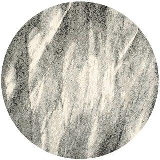 Safavieh Retro Grey/ Ivory Rug (8' Round)