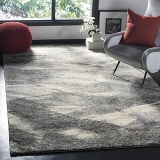 Safavieh Retro Grey/ Ivory Rug (8' Square)